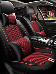 cheap -Car Seat Covers Headrest & Waist Cushion Kits Textile Artificial Leather For universal All years All Models