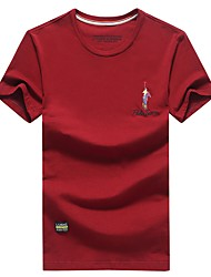 billige -Rund hals Herre - Ensfarvet T-shirt