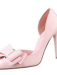 baratos -Mulheres Sapatos Couro Ecológico Primavera Verão Conforto Plataforma Básica Saltos Salto Agulha Dedo Apontado Dedo Fechado Laço para