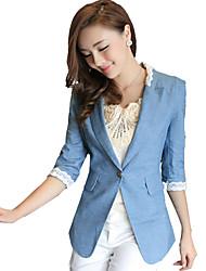 cheap -Women's Dailywear Date Business Attire Classic Spring Fall Blazer,Sexy Lady Peter Pan Collar 3/4 Length Sleeve Regular N/A