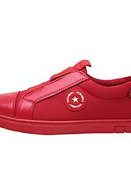 Herre Sko PU Vinter Komfort Sneakers for Afslappet Sort Rød Sort/Rød