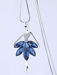 Недорогие -Жен. Ожерелья с подвесками  -  принцесса европейский, Мода Темно-синий Ожерелье Назначение Для вечеринок