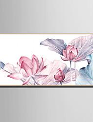 Недорогие -Пейзаж Цветочные мотивы/ботанический Иллюстрации Предметы искусства,Пластик материал с рамкой For Украшение дома Предметы искусства в