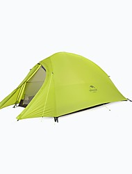cheap -Naturehike 1 person Double Camping Tent One Room Backpacking Tents Quick Dry Windproof Rain-Proof for Camping / Hiking >3000mm Silica Gel