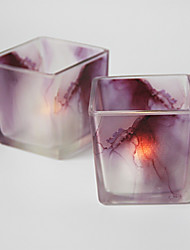 cheap -Simple Style Modern/Contemporary Glass Candle Holders 1pc, Candle/Candle Holder