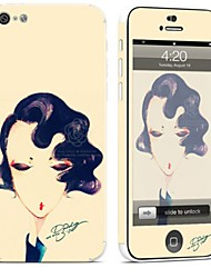 cheap -1 pc Skin Sticker for Scratch Proof Sexy Lady Pattern PVC iPhone 5c