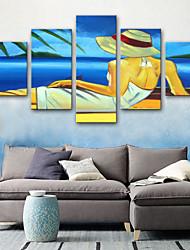 Недорогие -Отпечатки на холсте Modern, 5 панелей холст Вертикальная С картинкой Декор стены Украшение дома