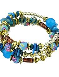 preiswerte -Damen Strang-Armbänder , Einfach Freizeit Imitation Turmalin Aleación Kreisform Schmuck Abiball Verabredung Modeschmuck Purpur Regenbogen