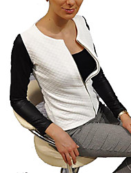 cheap -Women's Basic Jacket-Color Block