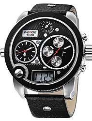 cheap -WEIDE Men's Quartz Wrist Watch Japanese Water Resistant / Water Proof Large Dial Casual Watch Three Time Zones Dual Time Zones Genuine