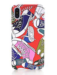 Недорогие -Кейс для Назначение Apple iPhone X iPhone 8 Сияние в темноте Матовое С узором Кейс на заднюю панель Мультипликация Твердый ПК для iPhone