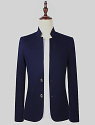 cheap -Men's Business Casual Slim Blazer-Solid Colored,Basic Stand