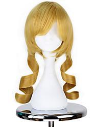 economico -Parrucche Cosplay Puella Magi Madoka Magica Tomoe Mami Anime Parrucche Cosplay 45cm CM Tessuno resistente a calore Per uomo Per donna