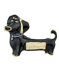 Недорогие -Жен. Броши - Собаки Простой, Классический Брошь Бижутерия Белый / Черный / Желтый Назначение Повседневные / Новый год