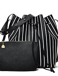 baratos -Mulheres Bolsas PU Conjuntos de saco Ziper Preto / Rosa / Cinzento