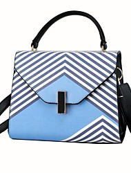 cheap -Women's Bags PU Polyester Tote Buttons Zipper for Casual All Seasons Blue White Yellow