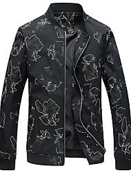cheap -Men's Simple Plus Size Jacket-Contemporary Stand