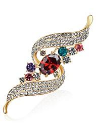 abordables -Mujer Diamante / Zirconia Cúbica Broche - Zirconio, Diamante Sintético Diseñada en China, Cuadro al Óleo Broche Arco iris Para Fiesta / Carnaval