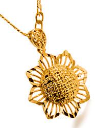 Недорогие -Жен. Ожерелья с подвесками - Позолота Цветы Мода Золотой Ожерелье 1 Назначение День рождения, Подарок