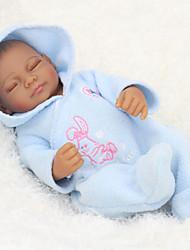 Недорогие -NPK DOLL Куклы реборн Дети 10 дюймовый Полный силикон для тела Силикон Винил - как живой Милый стиль Ручная работа Безопасно для детей Non Toxic Милый Детские Девочки Игрушки Подарок / CE