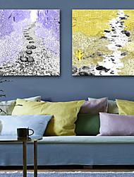 Недорогие -Отпечатки на холсте Modern, 2 панели холст Квадратный С картинкой Декор стены Украшение дома