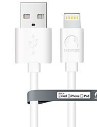 preiswerte -Beleuchtung USB-Kabeladapter Schnelle Aufladung Kabel Für iPhone 120 cm PVC