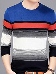 Majica s rukavima Muškarci Prugasti uzorak Okrugli izrez