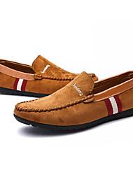 preiswerte -Herrn Schuhe PU Frühling Herbst Komfort Sandalen für Draussen Schwarz Braun Blau