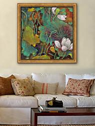 cheap -Botanical Floral/Botanical Illustration Wall Art,Plastic Material With Frame For Home Decoration Frame Art Living Room