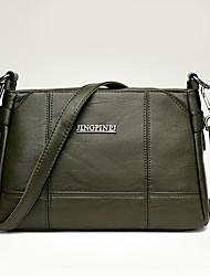 cheap -Women's Bags PU Shoulder Bag Zipper for Shopping Casual All Seasons Black Dark Blue Purple Navy Blue Wine