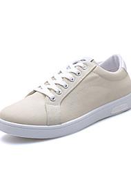 Herre Sko Stof Forår Efterår Lysende såler Sneakers for Afslappet Sort Blå Kakifarvet