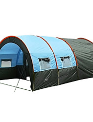 cheap -5 - 7 persons Tunnel Tent Tent Single Camping Tent Two Rooms Outdoor Family Camping Tents Portable Windproof Dust Proof Anti-Insect