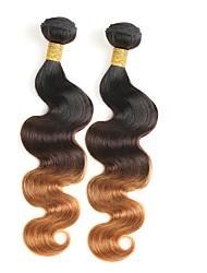 tanie -2 zestawy Włosy brazylijskie Body wave 10A Włosy naturalne remy Ombre Ombre Ludzkie włosy wyplata Ludzkich włosów rozszerzeniach