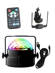 Χαμηλού Κόστους Φώτα Σκηνής-1set 3 W 3 LEDs Τηλεχειριστήριο Φώτα Σκηνής LED RGB