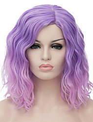cheap -Synthetic Wig Wavy Bob Haircut Middle Part Ombre Hair Women's Capless Carnival Wig Halloween Wig Party Wig Natural Wigs Short Synthetic
