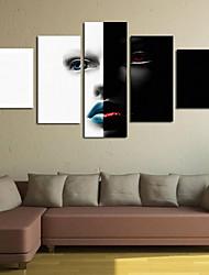 abordables -Impressions sur toile roulées Classique, Cinq Panneaux Panoramique vertical Imprimé Décoration murale Décoration d'intérieur