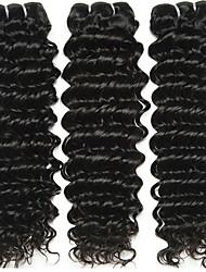 Недорогие -3 Связки Бразильские волосы Крупные кудри 10A Не подвергавшиеся окрашиванию Человека ткет Волосы 8-28 дюймовый Ткет человеческих волос Расширения человеческих волос