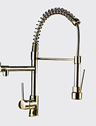 cheap -Contemporary Art Deco/Retro Modern Pull-out/­Pull-down Vessel Pullout Spray Widespread Rotatable Ceramic Valve Single Handle One Hole