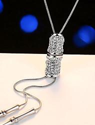 Недорогие -Жен. Стразы Искусственный жемчуг Ожерелья с подвесками  -  Elegant европейский Серебряный Ожерелье Назначение Для вечеринок
