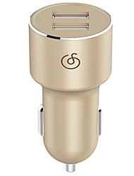 cheap -Car Charger Phone USB Charger Universal USB Multi Ports 2 USB Ports 2.4A DC 9V