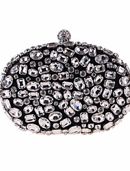 cheap -Bags Polyester Evening Bag Crystals for Wedding / Event / Party Black