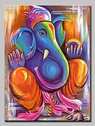 Недорогие -Ручная роспись Религиозная тематика Вертикальная, Modern Hang-роспись маслом Украшение дома 1 панель