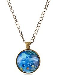 Недорогие -Жен. Ожерелья с подвесками  -  Дельфин, Животный принт Бронзовый Ожерелье 1 Назначение Выпускной, Свидание
