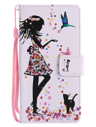 cheap -Case For Sony Xperia XZ1 Compact Xperia XZ1 Card Holder Wallet with Stand Flip Pattern Full Body Cases Cat Sexy Lady Hard PU Leather for