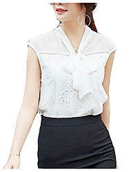 cheap -Women's Work Business Blouse - Solid Colored V Neck