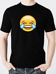 abordables -les T-shirts menés luisent le coton pur mené décontracté 2 × aa