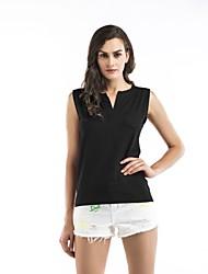 preiswerte -Damen Solide Tank Tops, V-Ausschnitt Ringer-Rücken-Kleid