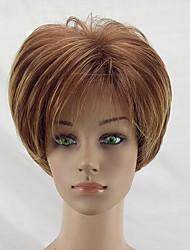 Недорогие -Парики из искусственных волос Прямой Стрижка каскад Искусственные волосы Природные волосы Коричневый Парик Жен. Короткие Парик из