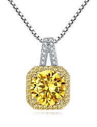 cheap -Women's Cubic Zirconia Pendant Necklace - Zircon Vintage, Fashion Silver Necklace For Gift, Daily