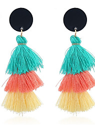 cheap -Women's Tassel Drop Earrings - Tassel, Sweet Light Orange / Light Blue / Light Pink For Daily / Going out